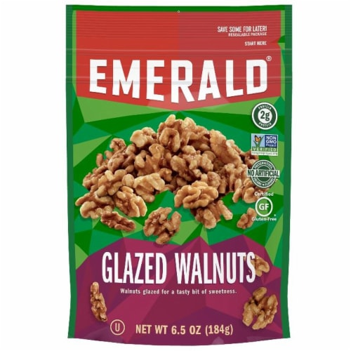 Emerald Glazed Walnut, 6.5 Ounce -- 6 per case. Perspective: front