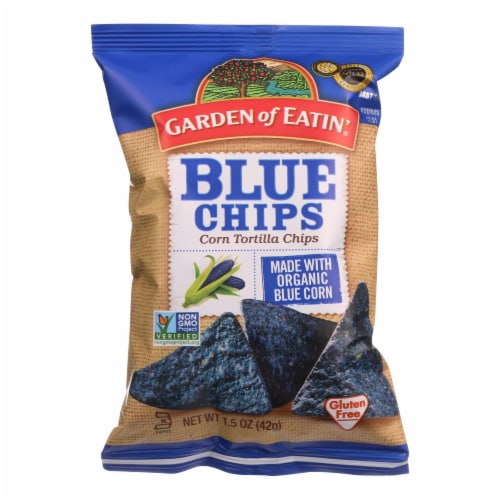 Garden Of Eatin Tortilla Chips - Organic - Blue Corn - Salted - 1.5 oz - case of 24 Perspective: front