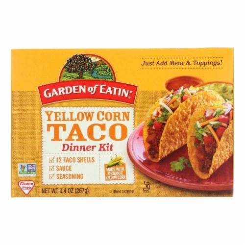 Garden of Eatin' Yellow Corn Taco Dinner Kit - Dinner Kit - Case of 12 - 9.4 oz. Perspective: front