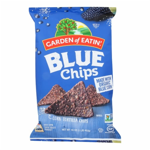 Garden of Eatin' Blue Corn Tortilla Chips (12 Pack) Perspective: front