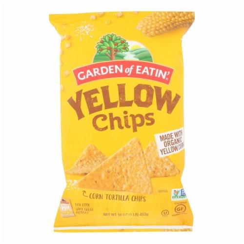 Garden of Eatin' Yellow Corn Tortilla Chips - Tortilla Chips - Case of 12 - 16 oz. Perspective: front