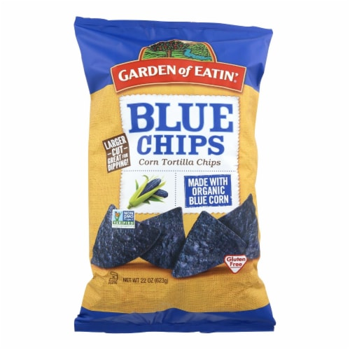 Garden of Eatin' Tortilla Chips - Blue Corn - Case of 10 - 22 oz. Perspective: front