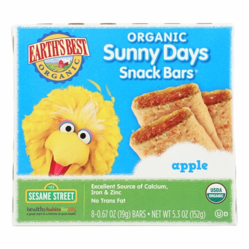 Earth's Best Sunny Days Apple Snack Bars - Case of 6 - 5.3 oz Perspective: front