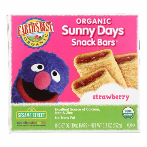 Earth's Best Sunny Days Strawberry Snack Bars - Case of 6 - 5.3 oz Perspective: front