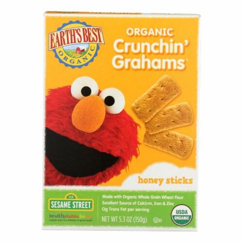 Earth's Best Organic Crunchin' Grahams Honey Sticks - Case of 6 - 5.3 oz. Perspective: front