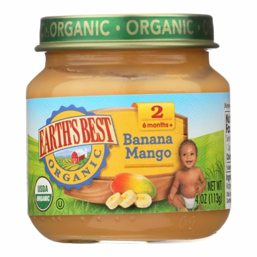 Earth's Best - Stage 2 Banana Mango - Case of 10-4 OZ Perspective: front