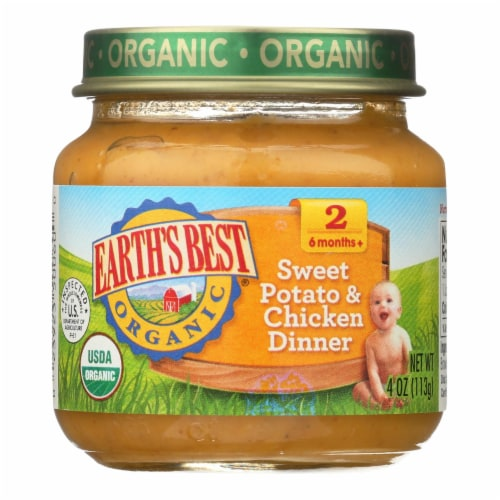 Earth's Best - Sweet Potato & Chicken Dinner - Case of 10-4 OZ Perspective: front