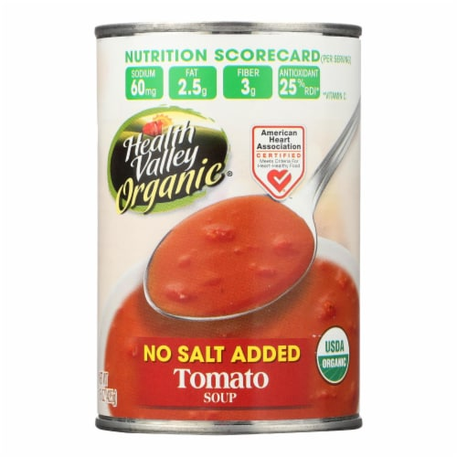 Health Valley Organic Soup - Tomato No Salt Added - Case of 12 - 15 oz. Perspective: front