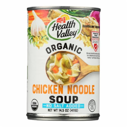 Health Valley Organic Soup - Chicken Noodle No Salt Added - Case of 12 - 14.5 oz. Perspective: front
