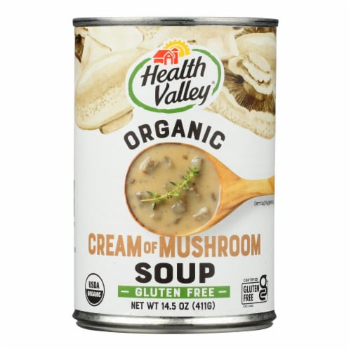 Health Valley Organic Soup - Mushroom Cream - Case of 12 - 14.5 oz. Perspective: front