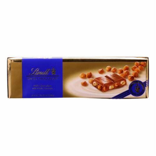 Lindt - Bar Swiss Milk Hazelnut - Case of 10-10.5 oz Perspective: front