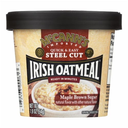 Mccann's Irish Oatmeal Instant Oatmeal Cup - Maple Brown Sugar - Case of 12 - 1.9 oz Perspective: front