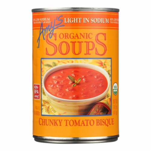 Amy's - Soup - Chunky Tomato Bisque - Case of 1 - 14.5 oz. - Pack of 3 Perspective: front