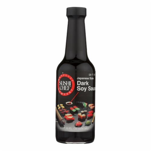 Sushi Chef Sauce - Soy - Dark - Case of 6 - 10 fl oz Perspective: front