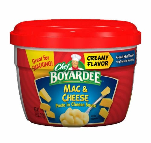 Chef Boyardee Mac & Cheese 7.5 Oz. Microwavable (12 Count) Perspective: front
