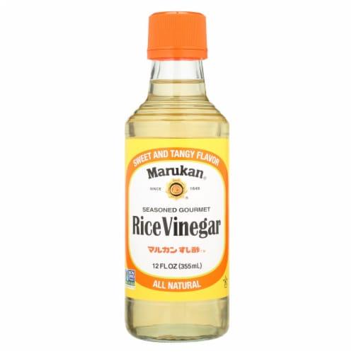 Marukan Seasoned Gourmet - Rice Vinegar - Case of 6 - 12 Fl oz. Perspective: front