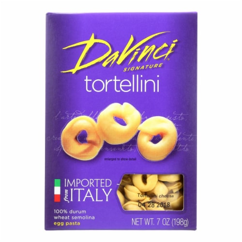 DaVinci - Tortellini Egg Pasta - Case of 12 - 7 oz. Perspective: front