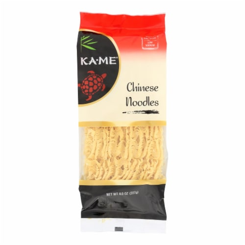 Ka'Me Chinese Plain Noodles - Case of 6 - 8 oz. Perspective: front