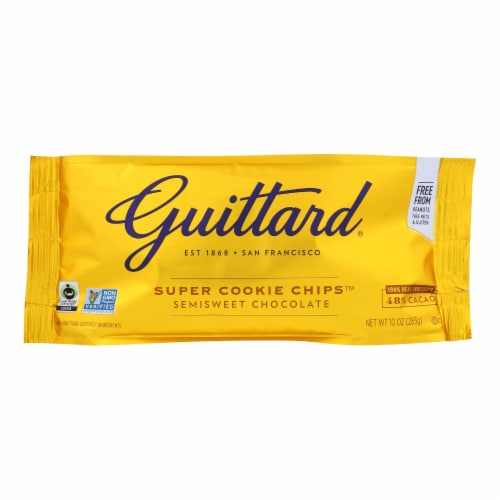 Guittard Chocolate Chips - Super Cookie Chips - Case of 12 - 10 oz. Perspective: front
