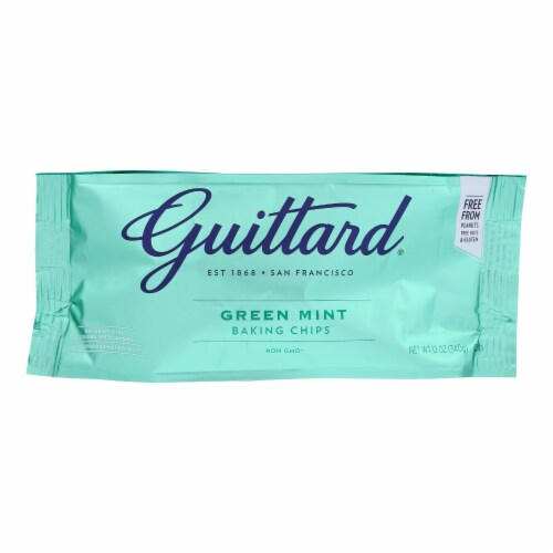 Guittard Chocolate Chips - Green Mint - Case of 12 - 12 oz. Perspective: front
