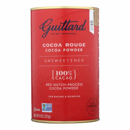 Guittard Chocolate Cocoa Powder - Unsweetened - Case of 6 - 8 oz. Perspective: front