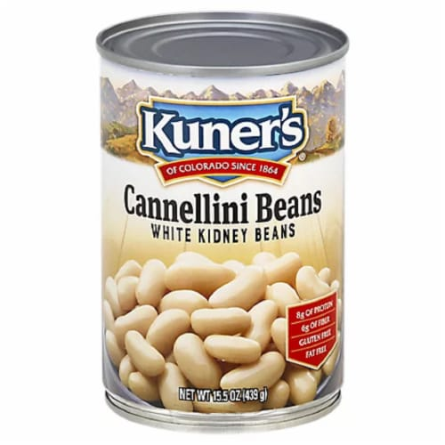 Kuner's Cannellini Beans White Kidney Beans 15.5oz (Pack of 12) Perspective: front