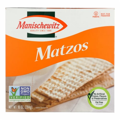Manischewitz - Matzos Crackers - Unsalted - 10 oz. Perspective: front