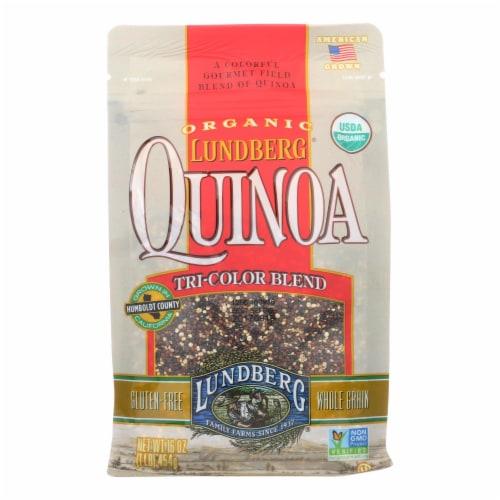 Lundberg Family Farms Organic Quinoa - Tri-Color - Case of 6 - 1 lb. Perspective: front