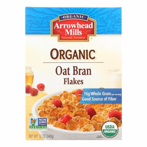 Arrowhead Mills - Oat Bran Flake - Blend Cereal - Case of 12 - 12 oz. Perspective: front