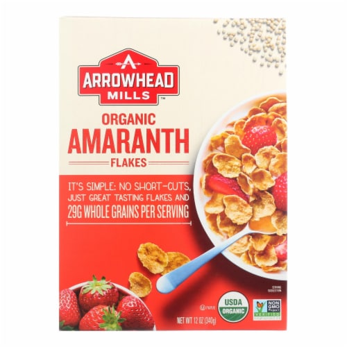Arrowhead Mills - Organic Amaranth Flakes - Case of 12 - 12 oz. Perspective: front