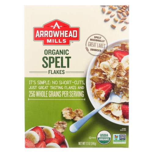 Arrowhead Mills - Organic Spelt Flakes - Case of 12 - 12 oz. Perspective: front