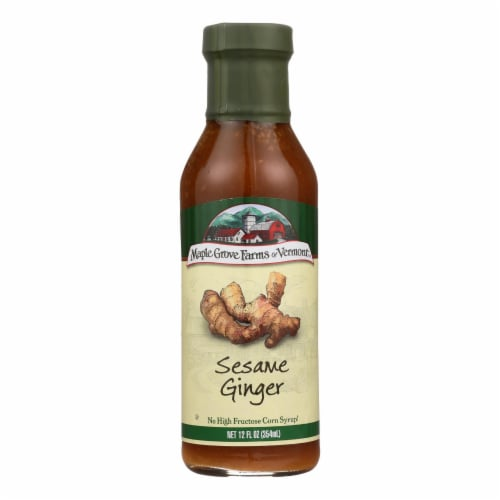 Maple Grove Farms - Salad Dressing - Sesame Ginger - Case of 6 - 12 Fl oz. Perspective: front