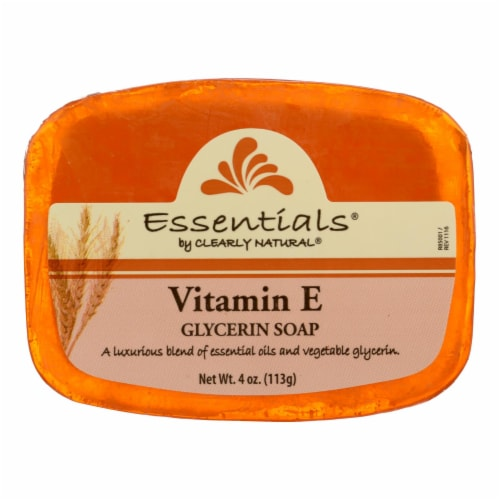 Clearly Natural Glycerine Bar Soap Vitamin E - 4 oz Perspective: front