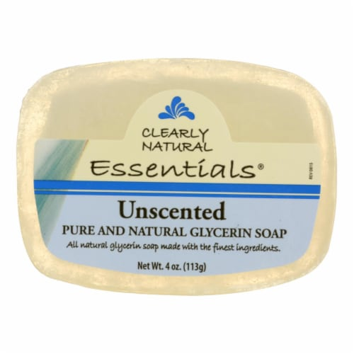 Clearly Natural Glycerine Bar Soap Unscented - 4 oz Perspective: front