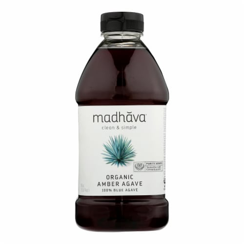 Madhava Honey Agave Nectar - Organic - Amber - Case of 4 - 46 oz Perspective: front