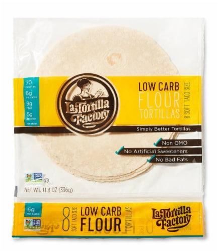 Low Carb Flour Soft Taco Tortillas Perspective: front