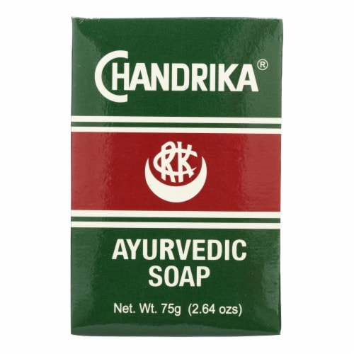 Chandrika Soap Ayurvedic Herbal and Vegetable Oil Soap - 2.64 oz - Case of 10 Perspective: front