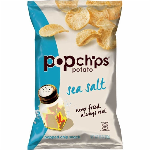 Popchips Sea Salt Popped Potato Chips, 3.5 Ounce -- 6 per case. Perspective: front