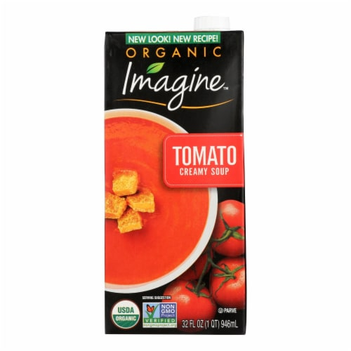 Imagine Foods Tomato Soup - Tomato Soup - Case of 12 - 32 oz. Perspective: front