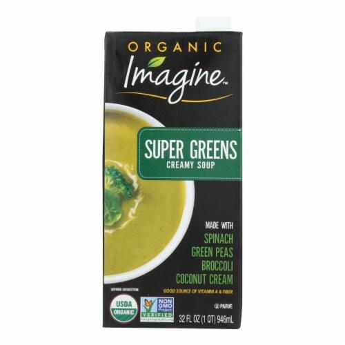 Imagine Foods Soup - Organic - Super Greens - Soup - Case of 12 - 32 fl oz Perspective: front