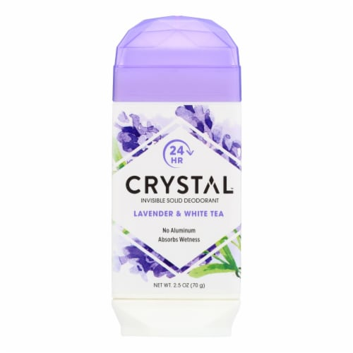 Crystal Deodorants - Invisible Solid Deodorant - Lavender and White Tea - 2.5 oz. Perspective: front