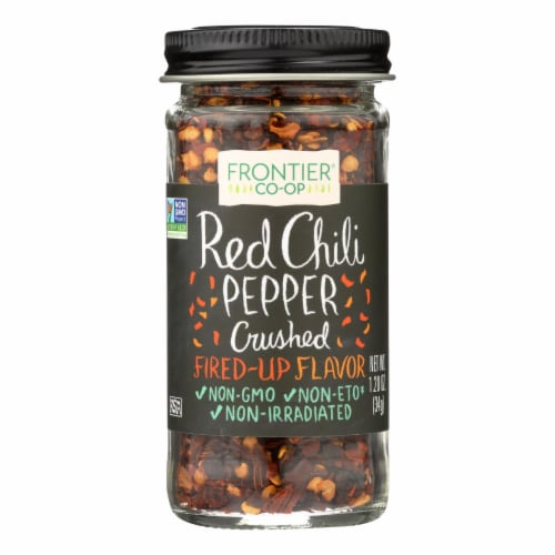 Frontier Herb Red Chili Peppers - Crushed - 1.2 oz Perspective: front