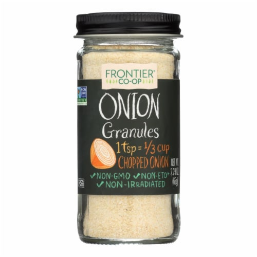 Frontier Herb Onion - Granules - White - 2.29 oz Perspective: front