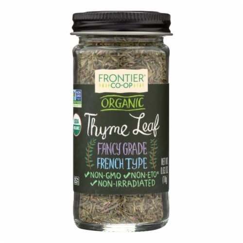 Frontier Herb Thyme Leaf - Organic - Whole - .8 oz Perspective: front