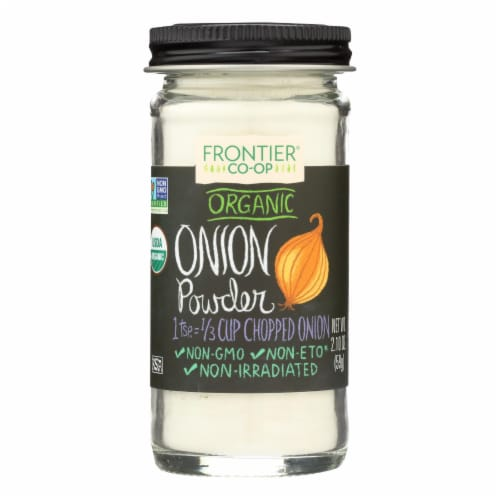 Frontier Herb Onion - Powder - Organic - White - 2.10 oz Perspective: front
