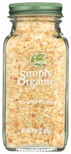 Simply Organic Onion - Organic - Minced - White - 2.21 oz Perspective: front