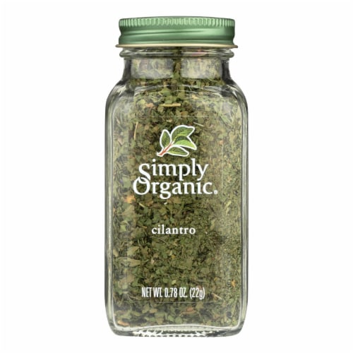 Simply Organic Cilantro - Case of 6 - 0.78 oz. Perspective: front
