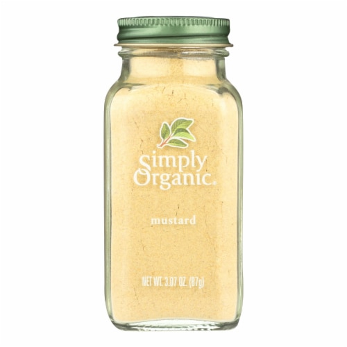 Simply Organic Mustard Seed - Organic - Ground - Yellow - 3.07 oz Perspective: front