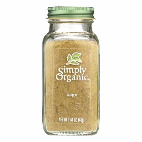 Simply Organic Sage Leaf - Organic - Ground - 1.41 oz Perspective: front