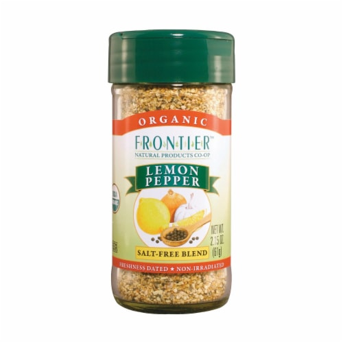 Frontier Herb Lemon Pepper - Organic Salt Free - Case of 6 - 2.5 oz. Perspective: front